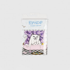 Штора для ванны RIPNDIP Lord Nermal Shower Curtain Purple Camo