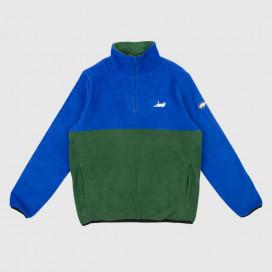 Толстовка RIPNDIP Castanza Fleece Half Zip Jacket Navy / Hunter Green