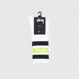 Носки Stussy STRIPE SP18 CREW SOCKS White