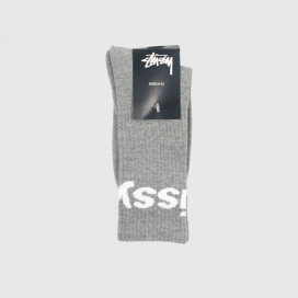 Носки Stussy Jacquard Logo Socks Grey Heather