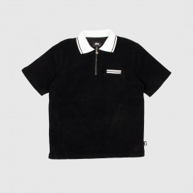 Поло Stussy Terry Lion Zip Polo Black