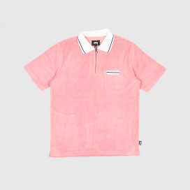 Поло Stussy Terry Lion Zip Polo Pink
