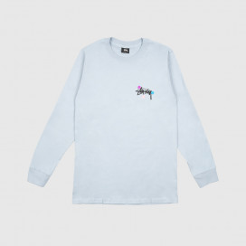 Лонгслив Stussy Dot Collage LS Tee Slate