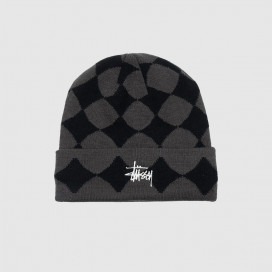 Шапка Stussy Diamond Cuff Beanie Black