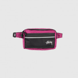 Сумка на пояс Stussy DIAMOND RIPSTOP WAIST BAG Berry
