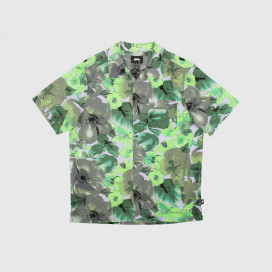 Рубашка Stussy WATERCOLOR FLOWER SHIRT LAVENDER
