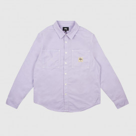Рубашка Stussy OXFORD WORK LS SHIRT LAVENDER