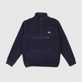 Толстовка Stussy POLAR FLEECE MOCK NECK Navy