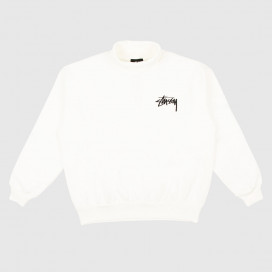 Толстовка Stussy WELLER TURTLENECK FLEECE CREW OFF WHITE