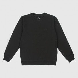 Толстовка Stussy STOCK LS TERRY CREW Black