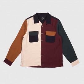 Рубашка Stussy Color Block Rayon Shirt Multi
