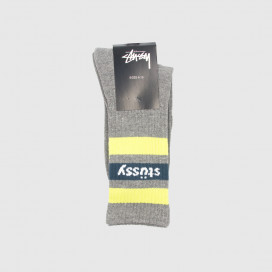 Носки Stussy STRIPE FA18 CREW SOCKS Grey Heather