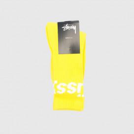 Носки Stussy JACQUARD LOGO SOCKS Yellow