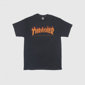 Футболка Thrasher Flame Halfton Black
