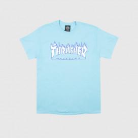 Футболка Thrasher T-Shirt Flame Sky Blue