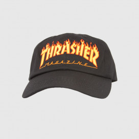 Кепка Thrasher FLAME OLD TIMER HAT Black