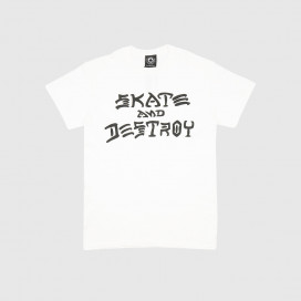 Футболка Thrasher Skate and Destroy T-Shirt White