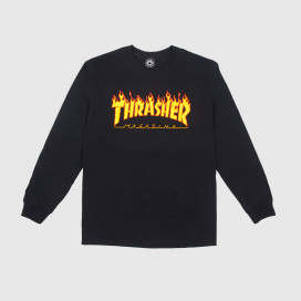 Лонгслив Thrasher Flame Logo Black