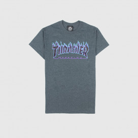 Футболка Thrasher Flame Logo T-Shirt Dark Heather